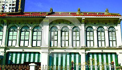 View of Chino Portuguese building in George town, Penang Malaysia.George Town is known as the UNESCO World Cultural Heritage City.
