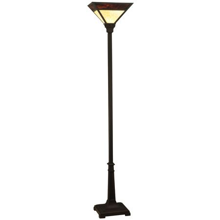 Stained glass craftsman torchiere floor lamp.