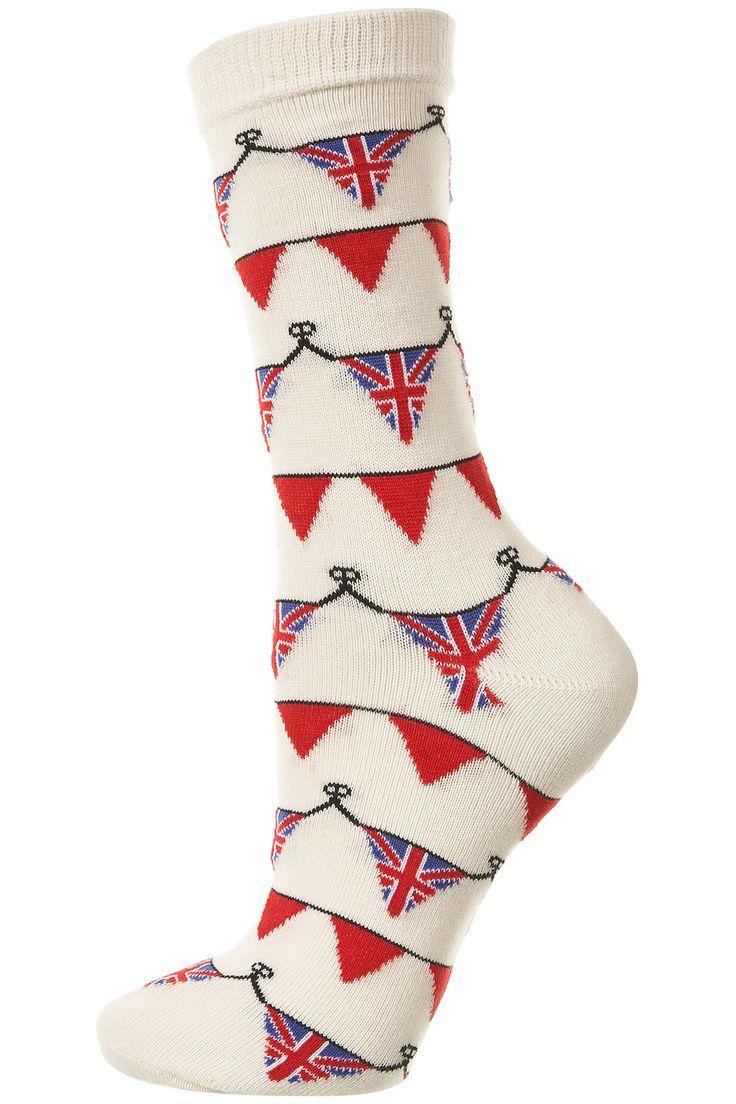 Bunting Ankle Socks - Ankle Socks -Tights & Socks- Clothing - Topshop
