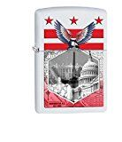 Washington DC Collage-Eagle Zippo Outdoor Indoor Windproof Lighter Free Custom Personalized Engraved Message Permanent Lifetime Engraving on Backside