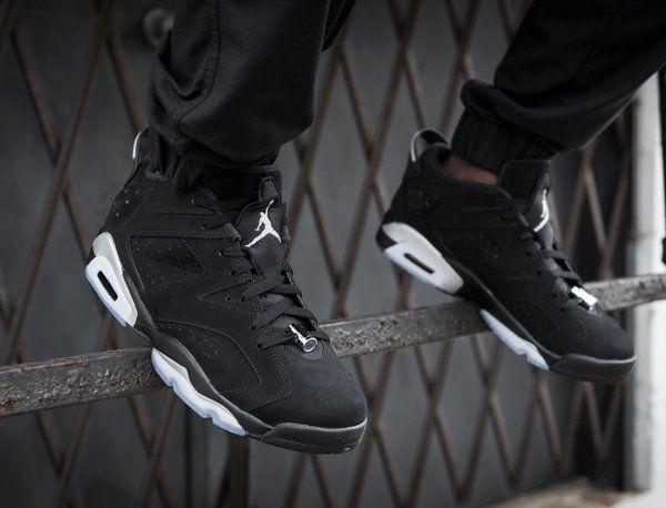 15faa72ab83 air jordan 6 low black metallic silver air jordan 6 low on feet