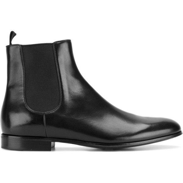 Gianvito Rossi classic chelsea boots ($1,315) ❤ liked on Polyvore featuring shoes, boots, ankle booties, black, pull on boots, black booties, gianvito rossi booties, chelsea boots and leather ankle booties