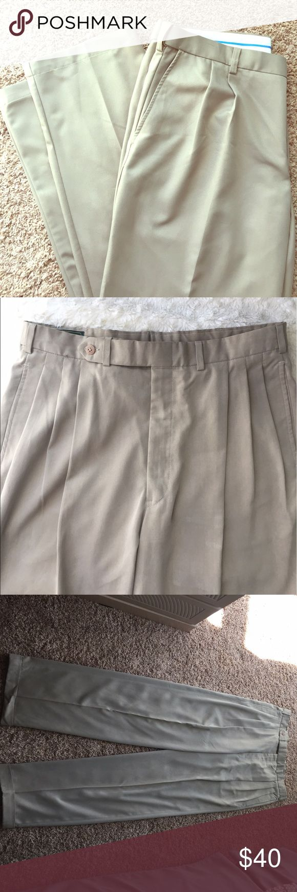 "Men's Khaki Pants Men's Khaki Pants. Waist Size 34. Inseam is about 34"". Length from the top of the pants down is 46"". Bobby Jones Pants Chinos & Khakis"