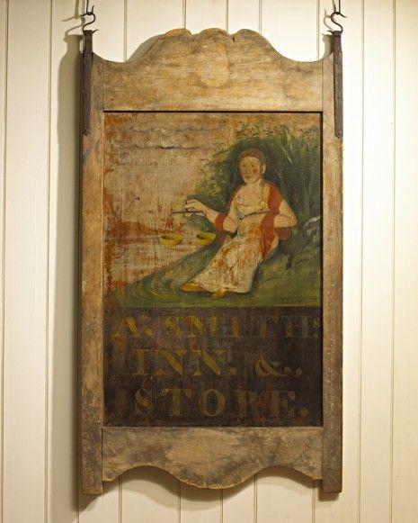 """C1824 New England Trade Sign, """"A. Smith Inn."""