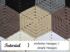 Sechseck häkeln / simple Hexagon - Häkeln macht glücklich // Crochet addict with no wish to stop