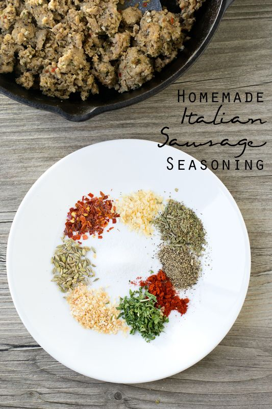 Make your own Italian sausage at home with this homemade italian sausage seasoning recipe. Add these savory spices to turkey, pork or beef and have delicious Italian sausage ready for pizzas, meatballs, spaghetti or your favorite Italian dish.