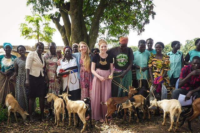 Some of our team with the women on the day they received their goats   We are so, so proud of these gorgeous women who are doing what they can to break the cycle of poverty for their families. Each and everyone of them inspire us daily ❤️ #womensempowerment #africa #uganda #socialenterprise #goats #farming #microfinance