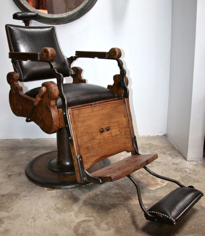 italian vintage barber chair old barber stuff antique pinterest rh pinterest com Used Barber Chairs Sale E. Berninghaus Barber Chair for Sale