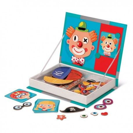 """Libro magnético """"caras locas"""" Para poner y quitar imanes en las caras de las cartas magnéticas."""