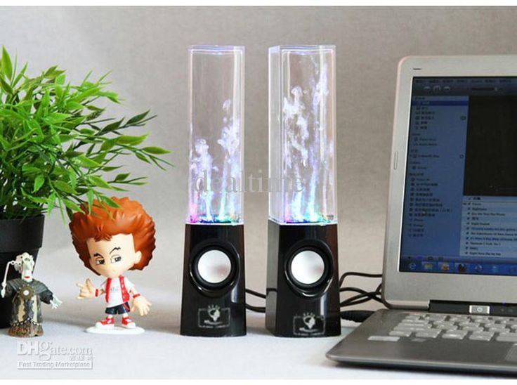 uSB lED luce danza acqua altoparlante led portatile di altoparlanti pC mP3 mP4 pSP 10pz dHLall'ingrosso