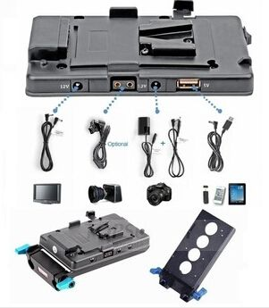 157.25$  Watch here - http://ali7sd.worldwells.pw/go.php?t=32388044657 - WONDLAN free shipping BMCC with USB dslr v mount power adapter Black magic camera DC cable