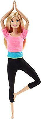 Barbie - Muñeca, movimientos sin límites, top color rosa (Mattel DHL82)