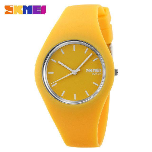 Watch Women SKMEI brand Fashion Casual quartz watch Men watches Montre Femme Reloj Mujer Silicone Waterproof Sport Wristwatches