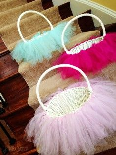 17 best everything tulle images on pinterest tutus easter baskets tutu easter basket diy easter basket rustic easter craft ideas easter table decorations negle Gallery