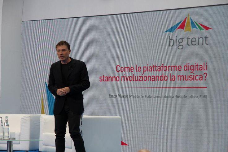 President of #FIMI (Federazione Industria Musicale Italiana) Enzo Mazza at #BigTentRoma. Concept and secretariat: #TriumphGroupInt.