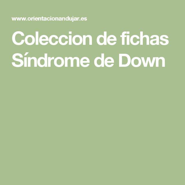 Coleccion de fichas Síndrome de Down