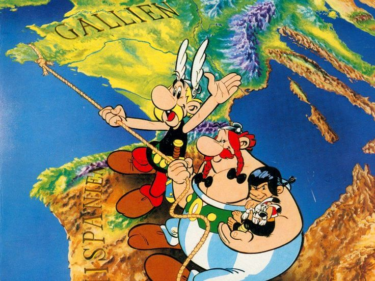 Asterix, Obelix, & Idefix. These French comic books tought me ancient history, latin, and sarcasm I really only understood later in life. They don't have much in common with Marvel superheroes - the characters are far too human even if they have some superpowers.