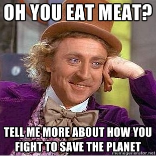 You eat meat?