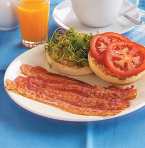 Bacon without the frying pan? Now that's convenient! Slices of side bacon are fully cooked so you only need a minute and a microwave to add sizzling bacon to everything from breakfast to BLTs. - M & M Meat Shops