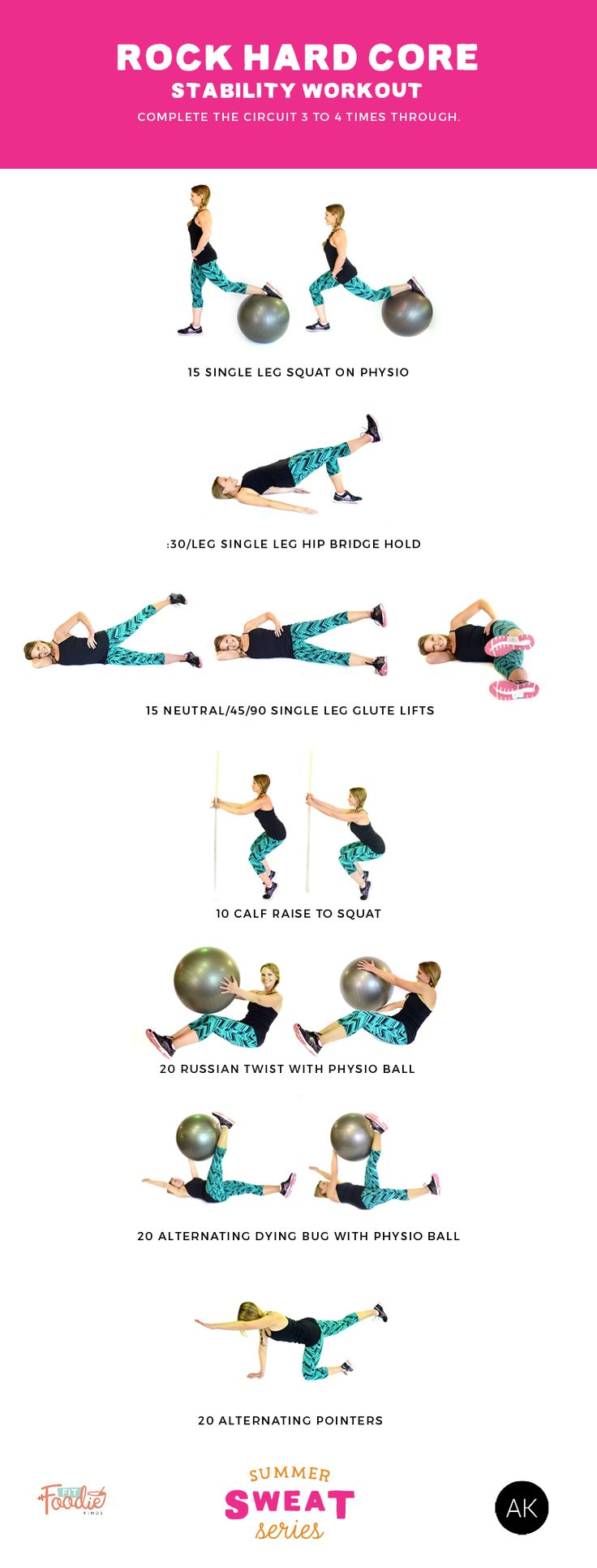 Rock Hard Core Stability Workout -- work your abs with this FUN and core-engaging workout. Lots of great exercises to try!
