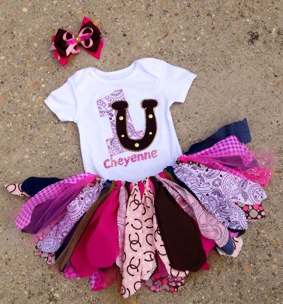 Cowgirl outfit Horseshoe cowgirl birthday Outfit  by LilNicks, $39.99
