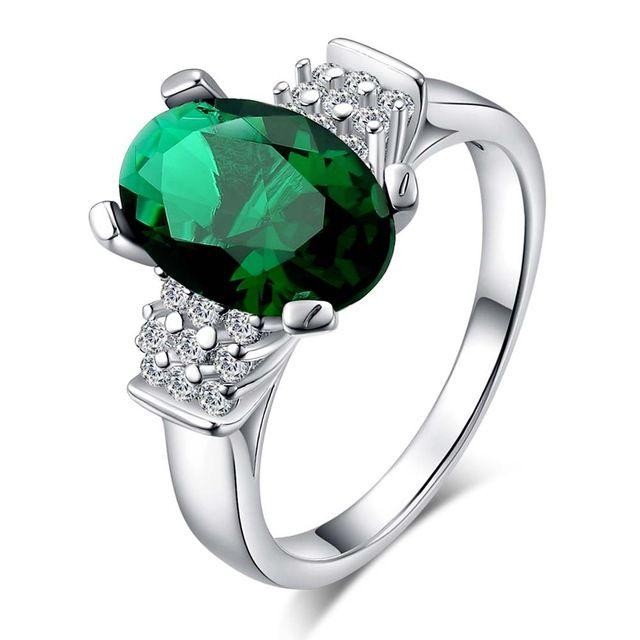 Нежный зеленый циркон Овальные Серебряные позолоченные Кольца Мода Ювелирные Кольца Женщины и Мужчины,/GHDGIZFP PMQUIIPD