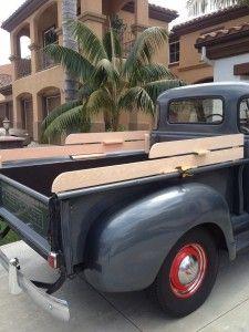 1950 Chevy Truck 3100 / 3600 oak wood truck rails mockup