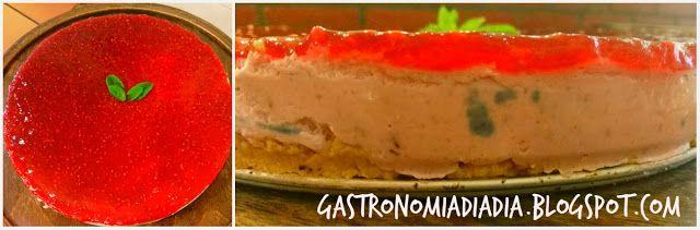 Gastronomía día a día: Tarta de mousse de cerezas y confitura de fresas