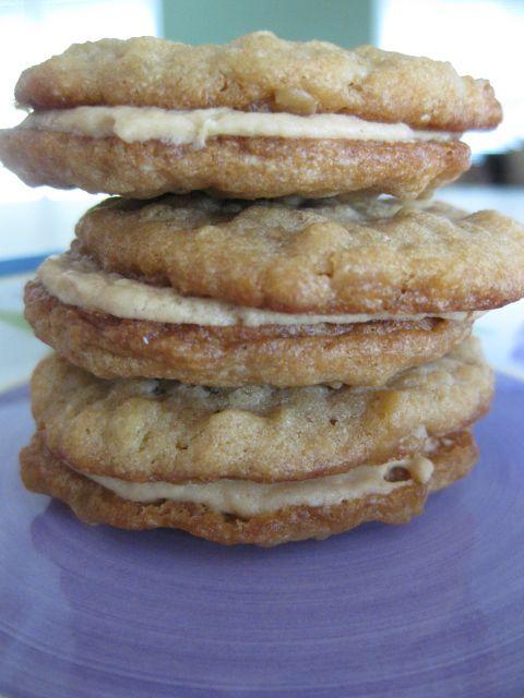Peanut Butter Oatmeal Sandwich Cookies | Small Batch Cooking | Pinter ...