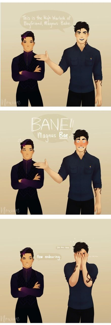 Alec presenting Magnus Babe, uhm sry, Magnus Bae. xD