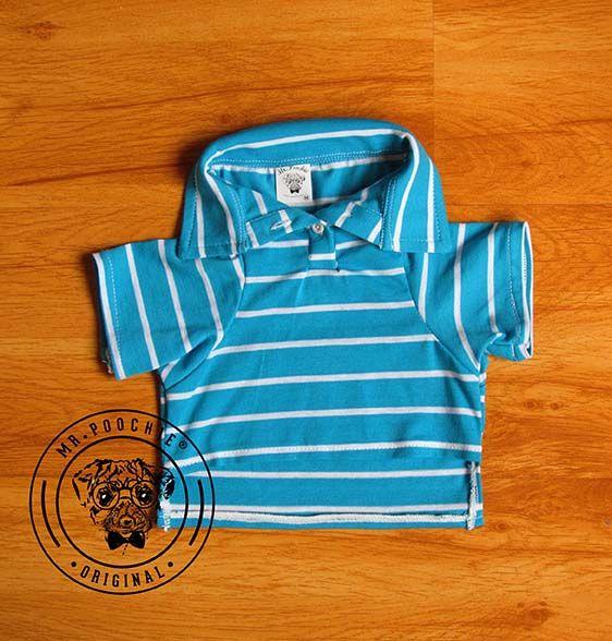 Camisa para mascotas Polo a rayas , Talla M