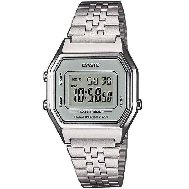 25be45e3c6d Casio Médio Prata Fundo Cinza BI8485