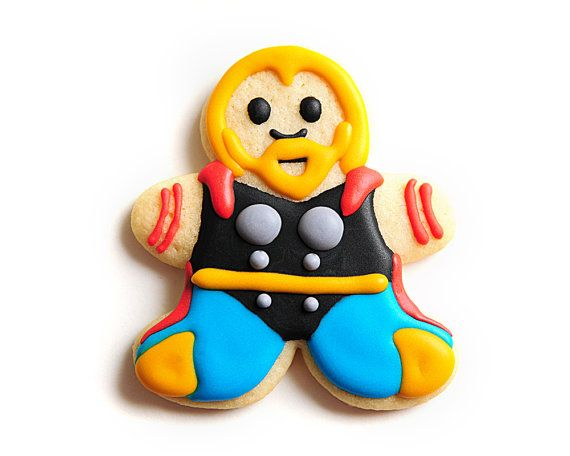 Thor Superhero Sugar Cookies