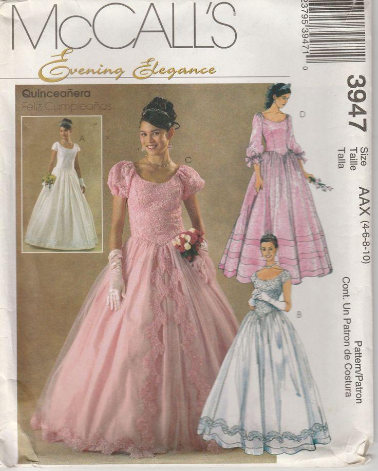 Ball gown pattern bridal wedding prom bodice full skirt