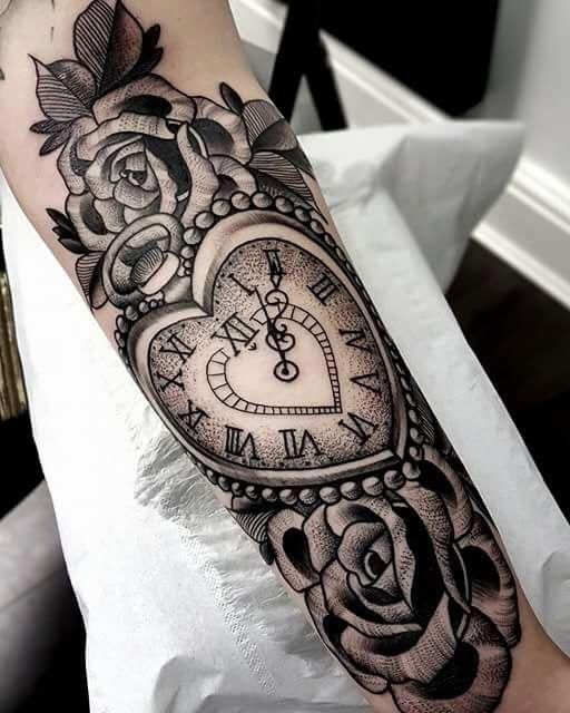 Stipples heart pocket watch and roses #pocketwatch ...