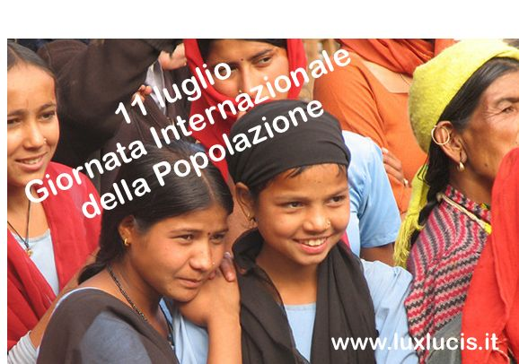 11 lugliosi celebra oggi la GIORNATA MONDIALE DELLA POPOLAZIO. NEL nel1989, il Consiglio direttivo del Programma di sviluppo delle Nazioni Unite ha raccoman