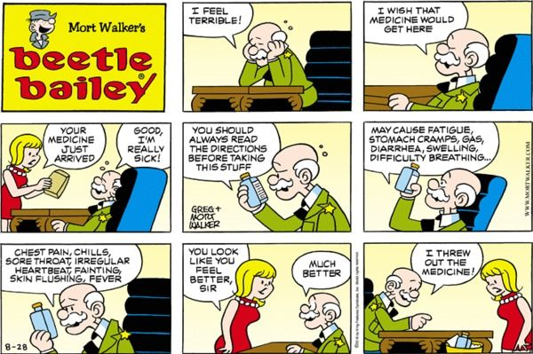 Beetle Bailey strip for August 28, 2016