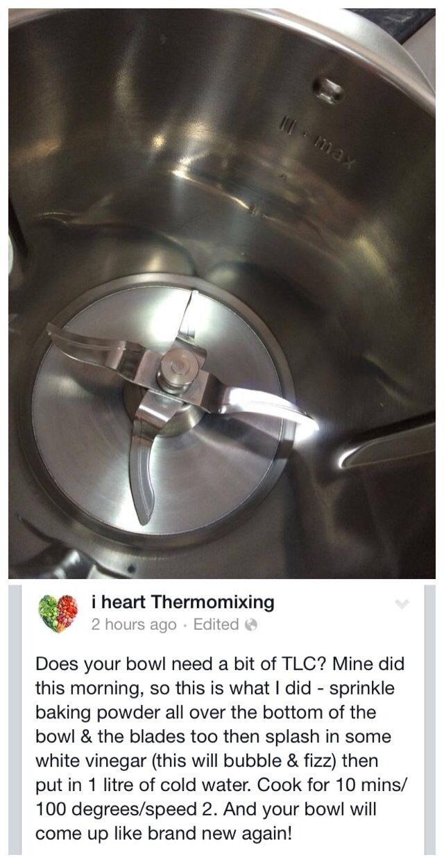 A 'like new' Thermomix - baking powder & vinegar.