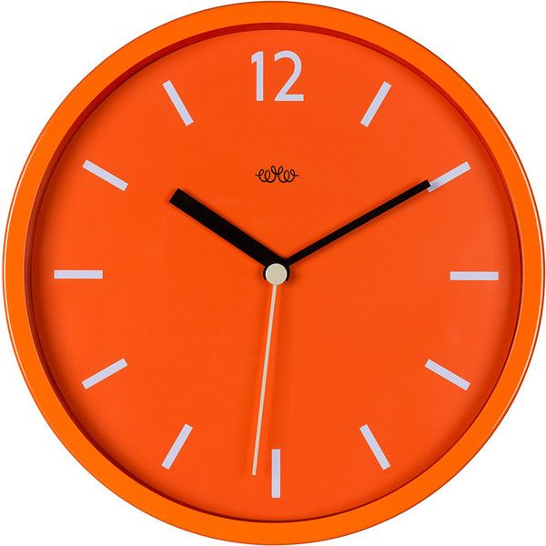 Wild & Wolf Wall Clock 30cm - Goldfish Orange ($40) ❤ liked on Polyvore featuring home, home decor, clocks, orange, orange clock, battery operated wall clock, battery clock, orange home decor and orange home accessories