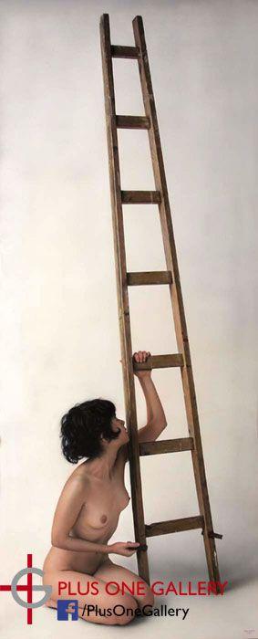 Ladder II, Oil on board,    180 x 70 cm