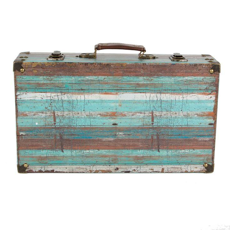 Coastal Chic Driftwood Stripey Suitcase