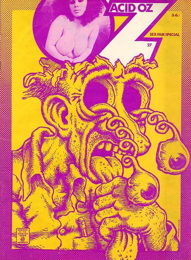 Oz Magazine: Acid OZ #27 1970. Cartoon by Robert Crumb.