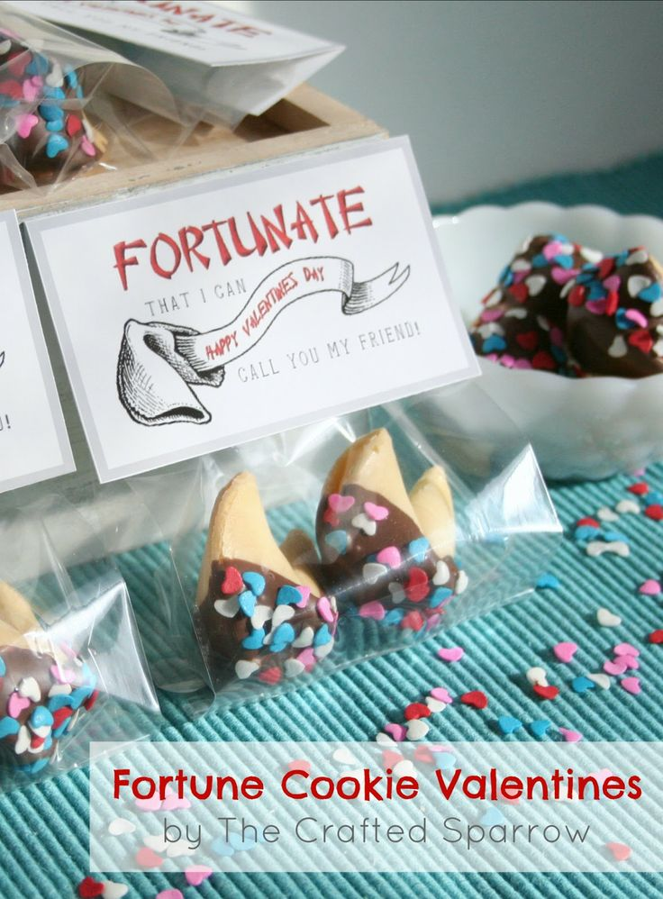 The Crafted Sparrow: Fortune Cookie Valentine's