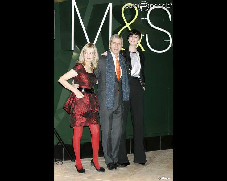 Twiggy avec Erin O'Connor et Mr Marks & Spencer, Stuart Rose