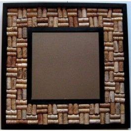 wine cork framed mirror