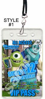 MONSTERS UNIVERSITY VIP PASSES WITH LANYARDS