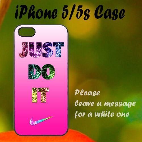 Nike Just Do It Pink Cute iPhone 5 / 5s Case, Plastic Case, Best Case