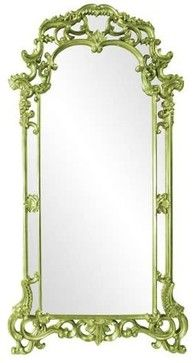 Howard Elliott Imperial Green Mirror - eclectic - Wall Mirrors - Chic Art and Accents