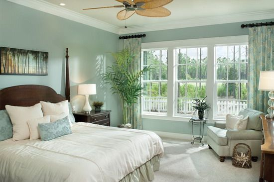 Soft Green Tropical Relaxing Bedroom Lounge Ideas