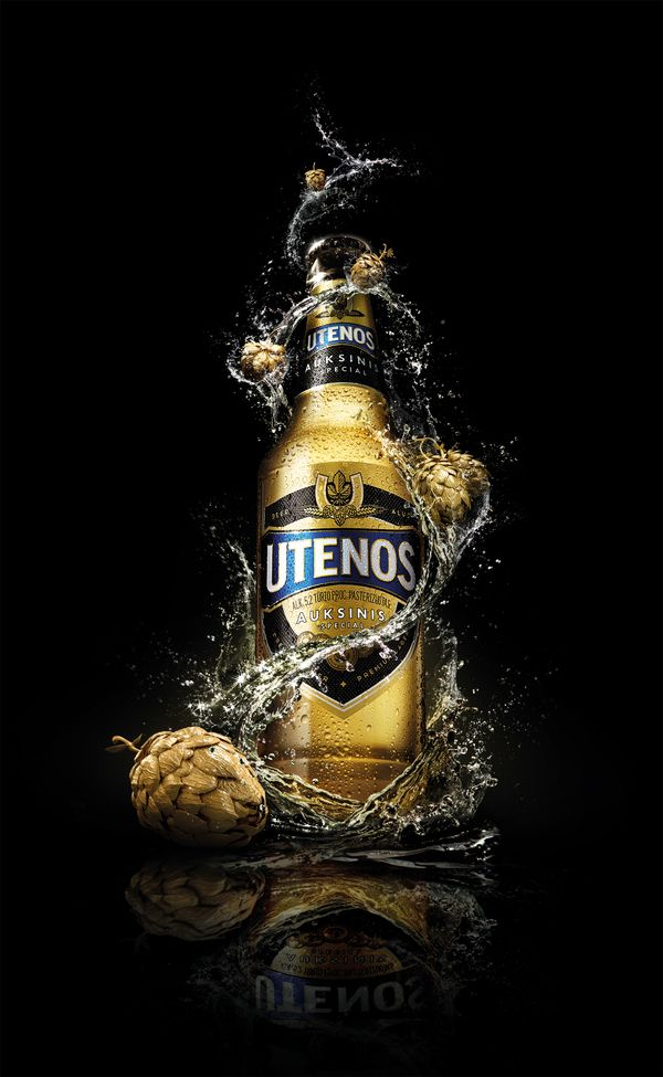 """Utenos"" beer by Pixpecker agency , via Behance"